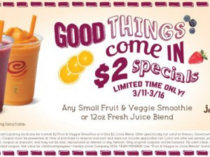 Jamba Juice Coupon – $2 Special