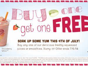 Jamba Juice Coupon – Buy One Get One Free!