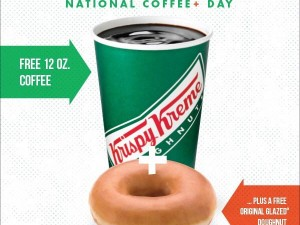 Krispy Kreme – National Coffee Day Free Donut and Free Coffee