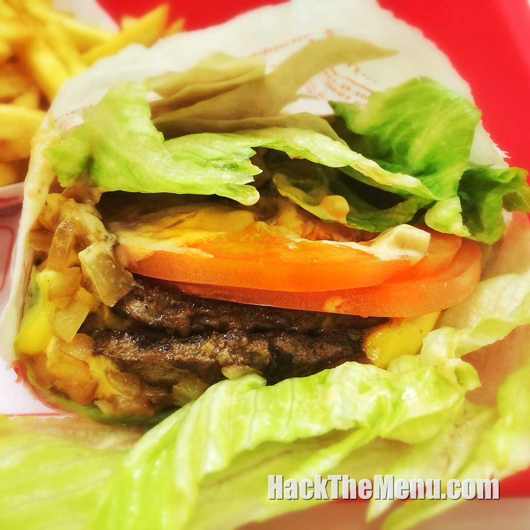 In-N-Out Protein Style Burger