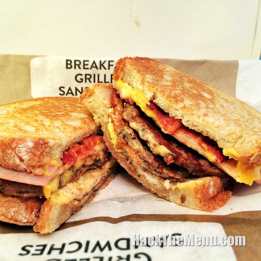 Jack In The Box Loaded Grilled Breakfast Sandwich