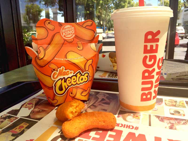 Burger King's Mac n' Cheetos new item June 2016