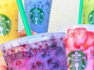 5 New Rainbow Colored Starbucks Secret Menu Drinks