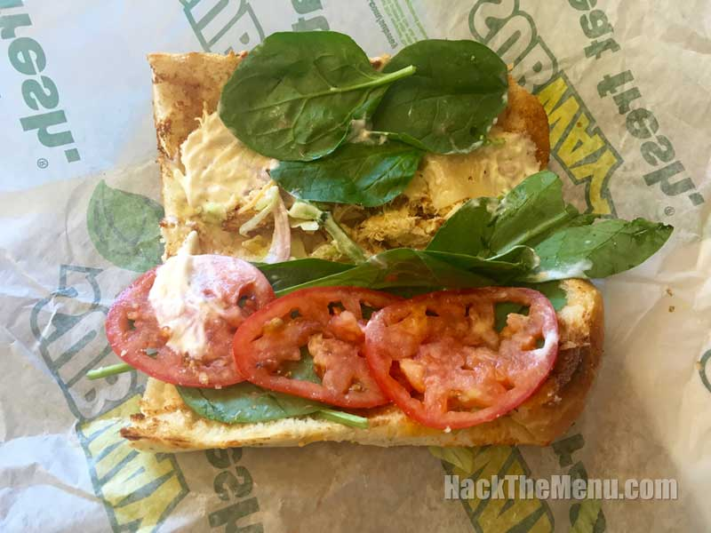 The Subway Chicken Caesar Melt Insides